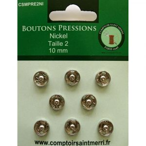 boutons pressions nickel A Coudre Petits