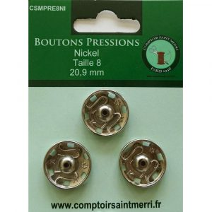 boutons pressions nickel A Coudre Grands